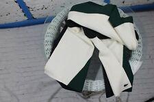 """Lacoste Scarf Cotton / Wool Blend Logo Black / White Size 75""""x16"""""""