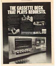 1978 Sharp RT-1157 Cassette Deck Recorder Player Stereo Hi-Fi Vtg Print Ad