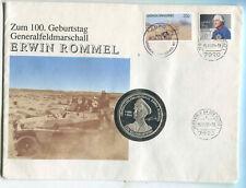 Numisbrief  100 Geburtstag von Erwin Rommel 40 mm PP.1 Stück (tt35)