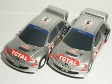 12V MICRO Scalextric - Pair of Peugeot 206WRC - NEW