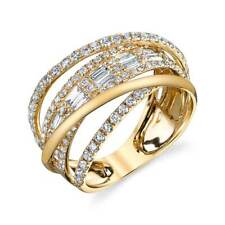 Infinity Women 925 Silver,gold Wedding Rings White Sapphire Ring Size 6-10