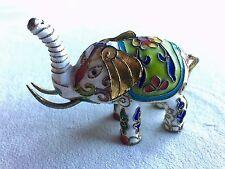 Minature Vintage Cloisonné Elephant w/ Beautiful Coloring