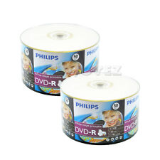 100 Pack Philips Blank 16x White Inkjet Hub Printable DVD-R Disc For Video Movie
