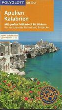Reiseführer Apulien Kalabrien + Faltkarte Ungelesen wie neu 160 S +APP Polyglott