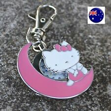 Kids Girl Lady Hello Kitty Bag Key Ring Keyrings Holder Pocket Watch badge