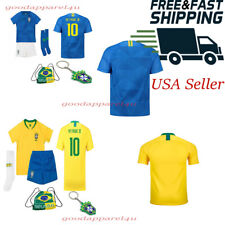 BRAZIL National Neymar Jr Kids Jersey Kit Age 1 - 13 Yrs