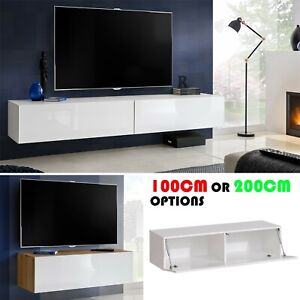 TV Wall Mounted Cabinet Stand High Gloss Fronts Living Room Unit Furniture