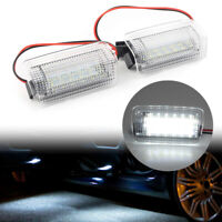 Pair LED Side Door Courtesy Lights Welcome Lamp for Toyota Lexus Lamps White cl