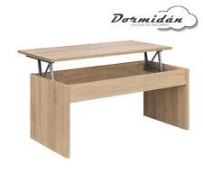 Mesa de centro elevable MC-5 Roble, salon / comedor, mayor grosor y estabilidad