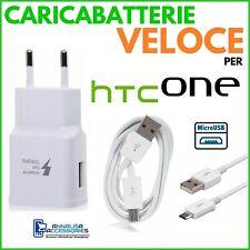 CARICABATTERIE VELOCE FAST CHARGER per HTC DESIRE 830 PRESA + CAVO MICRO USB 2A