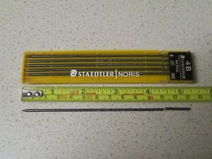 Very Rare Pack of Six (6) STAEDTLER   NORIS 202, 2 mm Pencil Leads Mines 4B