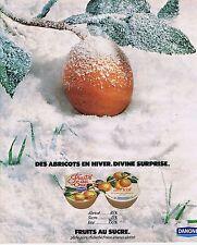 PUBLICITE ADVERTISING 045 1978 DANONE fruits au sucre