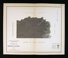 1878 Geological Map - Greene County Pennsylvania - by Lesley Geology Survey Pa