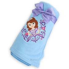 Disney Store Exclusive Sofia the First Princess BLUE Fleece Throw Blanket 60x50