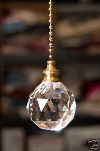 Acrylic Crystal Ball Ceiling Lighting Fan Pull