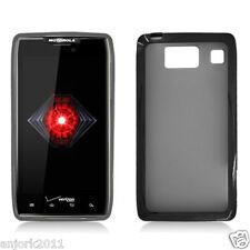 Motorola Droid Razr HD XT926 GUMMY CASE HYBRID COVER SMOKE BLACK