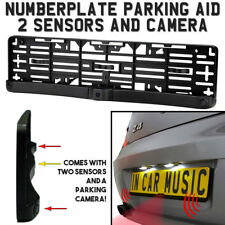 Number Plate Holder Mount Reverse Parking Sensor Sensors & Camera With Buzzer
