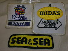 3 Sewing Patches Cadillac Parts Sea & Sea Midas Muffler Shops