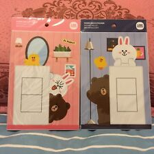 LINE Friends Brown Cony Electric Switch Socket Wall Decoration Stickers Gift Set