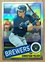 Christian Yelich ✨ 2020 Topps Chrome 1985 Refractor #85TC-15 Milwaukee Brewers