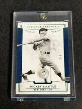 2019 National Treasures Baseball MICKEY MANTLE Jersey Button - SP 2/6 NY Yankees