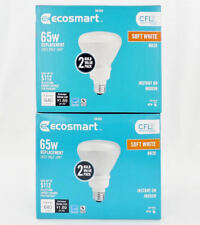EcoSmart 4 Pack 65W Replacement BR30 Soft White 2700K 14w CFL Fluorescent Bulbs