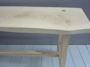 Live Edge Bench - Solid Ash