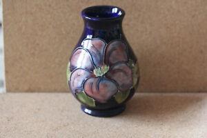 Moorcroft Clematis Vase Blue Ground