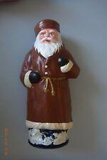 Candybox Weihnachtsmann sehr Alt! Pappmache 28cm* Braun * zb. für Süßigkeiten