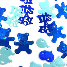Blue Baby Boy Christening Decoration Party Table Confetti Sprinkels Supplies 28g