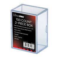 (1) Ultra Pro 2 Piece Plastic Card Storage Box (100 Count Size) Slider Box