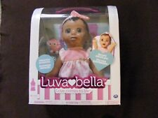 Luvabella Interactive Doll + Accessories - Dark Brown Hair/Skin - NEW