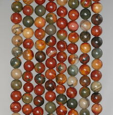 4MM PICASSO JASPER GEMSTONE  ROUND LOOSE BEADS 15.5""