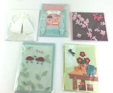 Hallmark Paper Magic Greeting Cards Lot of 5 Floral Sweets Bridal 3D Retail $45