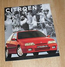 Citroen ZX Brochure 1992 Volcane Aura Furio 2.0 16v 1.9D