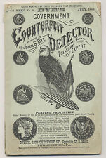JOHN S. DYE'S 1882 COUNTERFEIT DETECTOR, A RARE ORIGINAL NUMISMATIC PUBLICATION