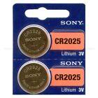 2 NEW SONY CR2025 3V Lithium Coin Battery Expire 2026 FRESHLY NEW - USA Seller