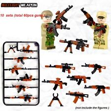 New 60pcs Guns SWAT Army Series Arms Weapons Fit Lego Building Block Toy
