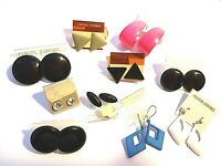 Vintage 1980s NWT NEW Wholesale Bundle Retro Pierced Costume Party Earrings