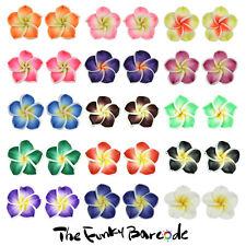 TFB - HAWAIIAN HULA STUD EARRINGS Funky Novelty Holiday Flower Petals Kitsch Fun