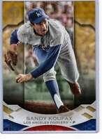 Sandy Koufax 2019 Topps Tribute 5x7 Gold #54 /10 Dodgers