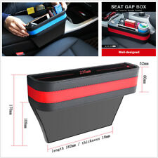 Black Red PU Leather+ABS Car Armrest Storage Organizer Car Seat Gap Storage Box