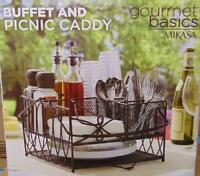 Gourmet Basics Mikasa Metal Buffet and Picnic Caddy - Antique Black