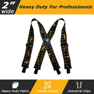"""2"""" Wide Heavy Duty Work Tool Braces Suspender Tools Belt Braces For Tool Pouch"""