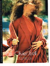 PUBLICITE ADVERTISING 094  1989  OLIVIER STRELLI   mode haute couture