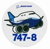 NEW Boeing 747-8 Pudgy Sticker, UPC# 580080110103