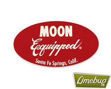 Mooneyes Red Oval Vintage Retro Sticker Stickers Decal VW Camper Beetle Car Bus