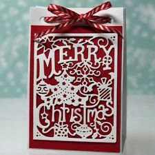 Merry Christmas Metal Cutting Dies Stencil Scrapbooking Card Embossing Craft DIY