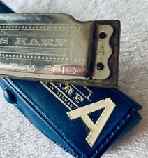 Vintage M. Hohner *Blues Harp* Harmonica-Key A-Soft Blue Case-Still Plays Great