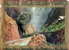 1913 ROCKY MOUNTAIN VIEWS ON THE RIO GRANDE RR, PIKES PEAK, Scenic Colorado